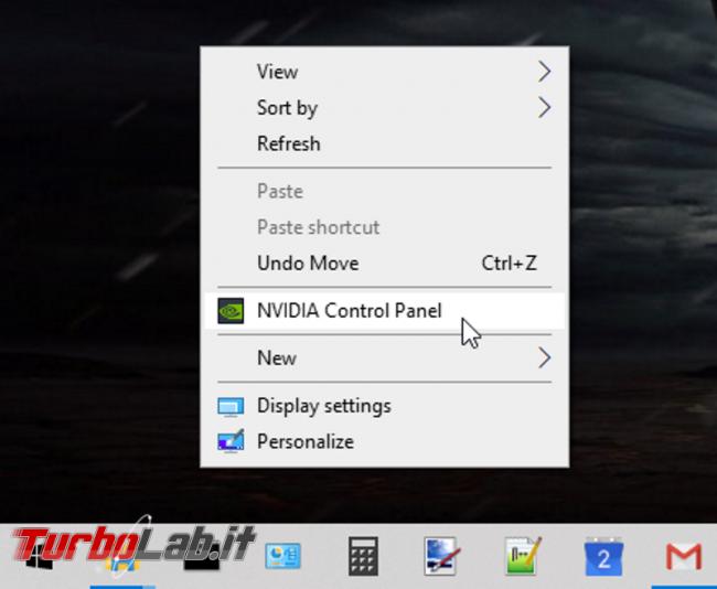 Come rimuovere NVIDIA Control Panel menu desktop Windows 10 (driver GeForce) - screen_xps_1577271720