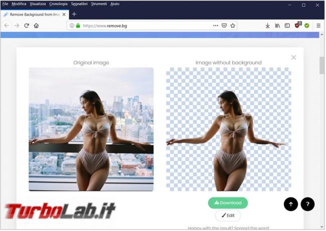Come rimuovere sfondo 'immagine estrarre persona ritratta