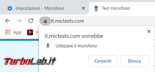Come ripristinare Chrome quando microfono smette funzionare