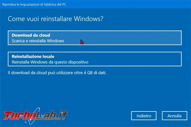 Come ripristinare resettare Windows 10 modo più facile: guida reinstallazione cloud - zShotVM_1570867237