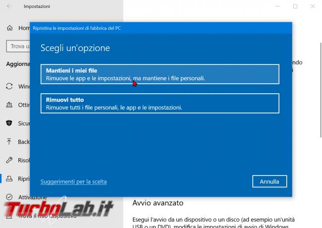 Come ripristinare resettare Windows 10 modo più facile: guida reinstallazione cloud - zShotVM_1584900756
