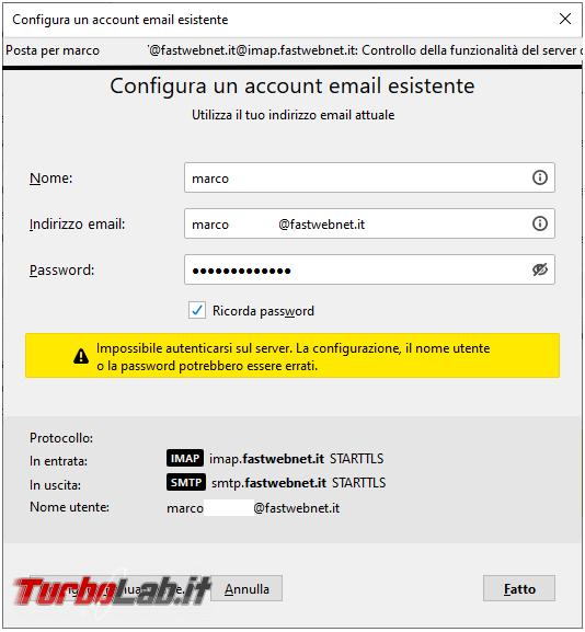 Come risolvere mancata connessione Thunderbird 78, alcuni provider posta, colpa protocollo TLS