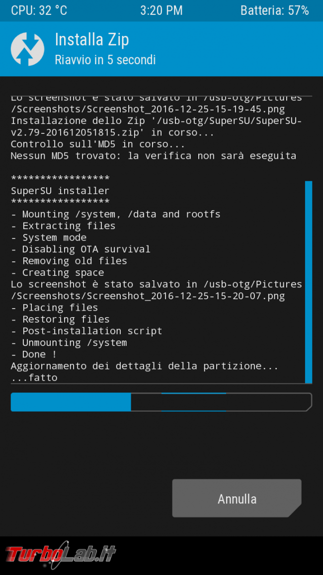 Come rootare smartphone Android: guida facile italiano root/rooting SuperSU - Screenshot_2016-12-25-15-20-17