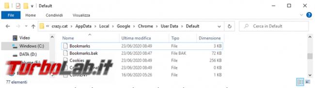 Come salvare riutilizzare Preferiti browser quando non si avvia più sistema operativo