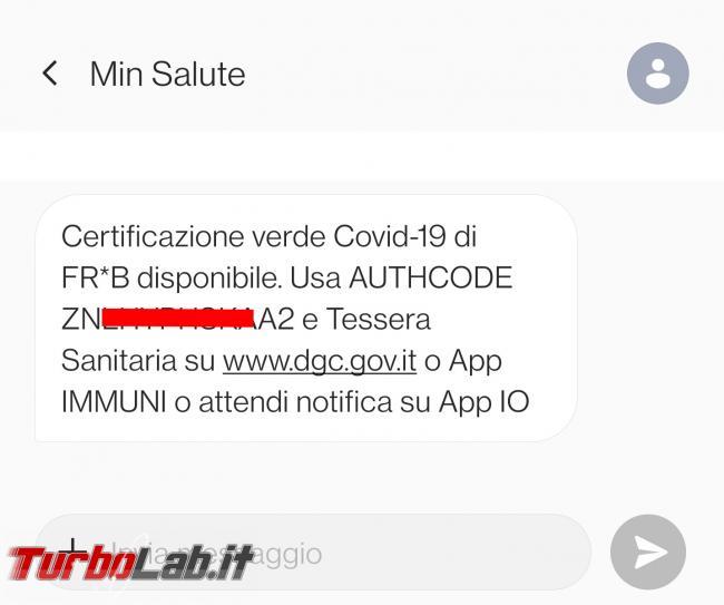 Come scaricare Green Pass sito Governo authcode inviato via SMS tessera sanitaria (GUIDA) - guida scaricare green pass