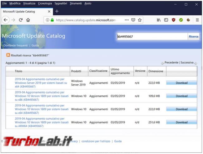 Come scaricare singoli aggiornamenti Windows installarli manualmente