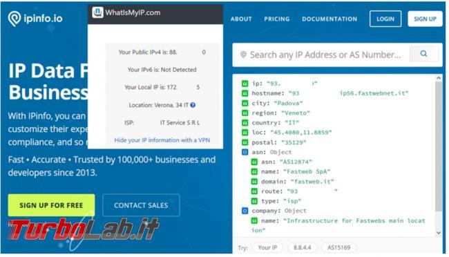 Come scoprire l'indirizzo IP pubblico cui ci presentiamo internet PowerShell servizi online