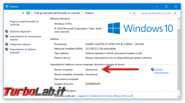 Come scoprire nome computer rete locale (guida Windows 10, Windows 8, Windows 7) - windows 10 proprietà sistema nome computer