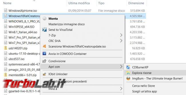 Come scoprire numero versione immagine ISO Windows senza installarla