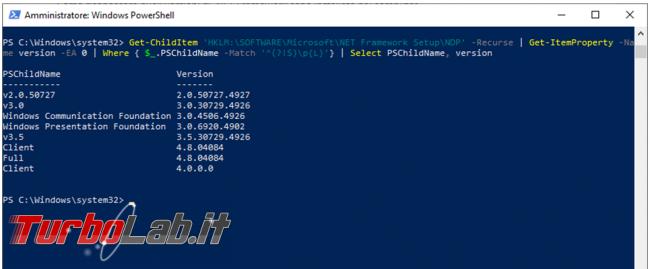 Come scoprire quali versioni .NET Framework sono installate computer