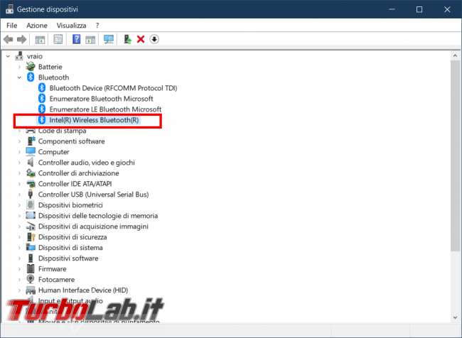 Come scoprire versione Bluetooth PC Windows 10 - FrShot_1572366606