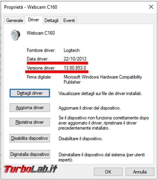 Come scoprire versione driver installato vedere se ci sono aggiornamenti