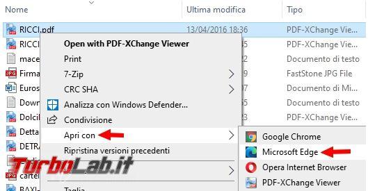 Come scrivere inserire firma documento PDF Microsoft Edge