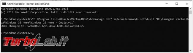 Come superare l'errore (0x80070057) VirtualBox lavorare copia identica macchina virtuale