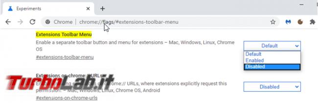 Come togliere l'icona estensioni Chrome