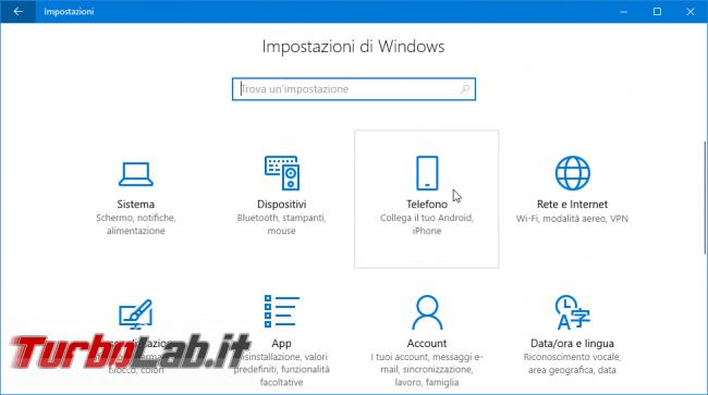Come usare Continua PC smartphone Android PC Windows 10