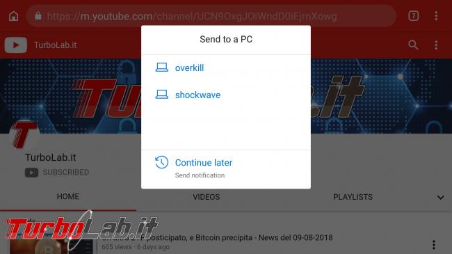 Come usare Continua PC smartphone Android PC Windows 10 - Screenshot_20180815-174416