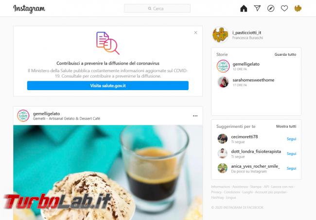 Come usare Instagram PC (guida rapida, pubblicare foto) - FrShot_1587797984