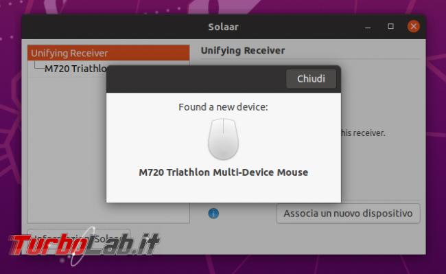 Come usare mouse tastiera Logitech senza fili Ubuntu 20.04 - Logitech Options Linux, accoppiamento Unifying Solaar, risolvere errore permessi - Logitech Ubuntu Sonaar (8)