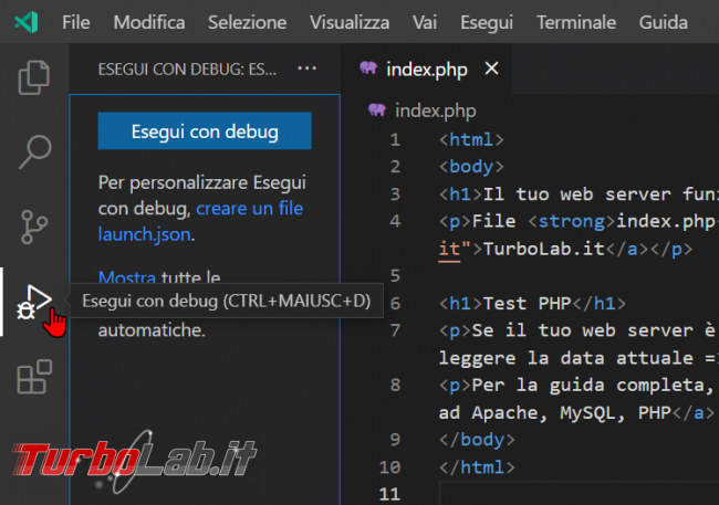 Come usare Xdebug Visual Studio Code: Guida Definitiva debug PHP ( breakpoint ed esecuzione step Windows 10 Linux) - zShotVM_1622709118