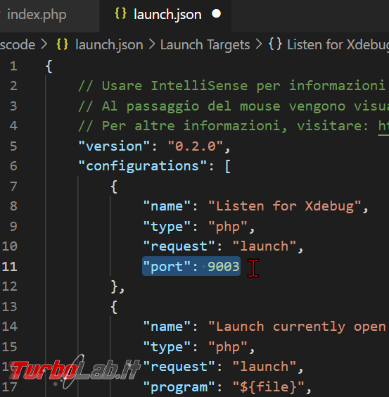 Come usare Xdebug Visual Studio Code: Guida Definitiva debug PHP ( breakpoint ed esecuzione step Windows 10 Linux) - zShotVM_1622710408