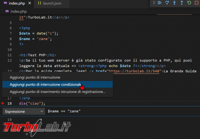 Come usare Xdebug Visual Studio Code: Guida Definitiva debug PHP ( breakpoint ed esecuzione step Windows 10 Linux) - zShotVM_1622783317