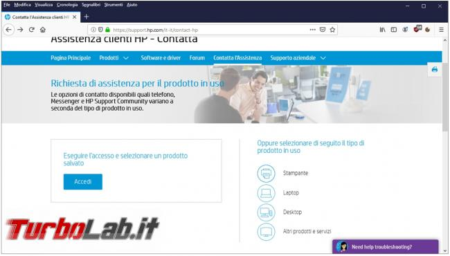 Come utilizzare diagnostica verificare problemi hardware computer HP