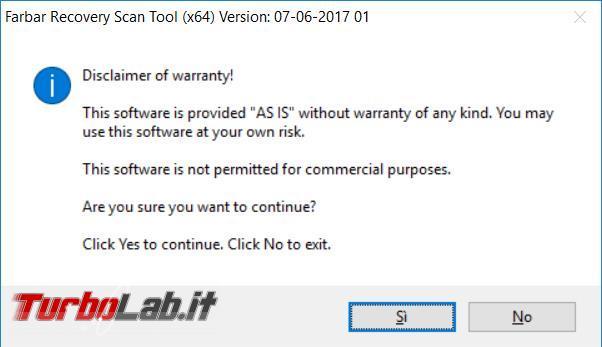 Come utilizzare Farbar Recovery Scan Tool analizzare ripulire sistema operativo