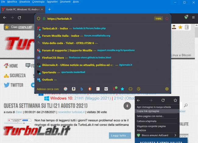 Come utilizzare file userChrome.css personalizzare l'aspetto Firefox