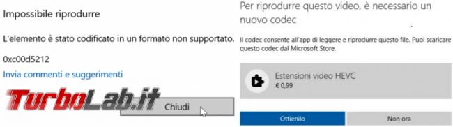 Come vedere quali codec audio video sono installati PC Windows 10