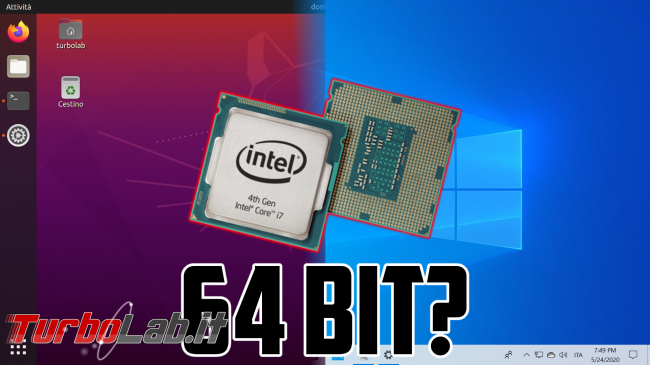 Come vedere se PC ha processore 64 bit (CPU x64) Windows 10 Linux - 64 bit cpu spotlight
