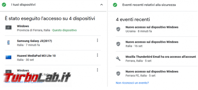 Come verificare accessi account Google gmail