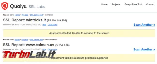 Come verificare certificato problemi sito quando browser segnala connessione non sicura