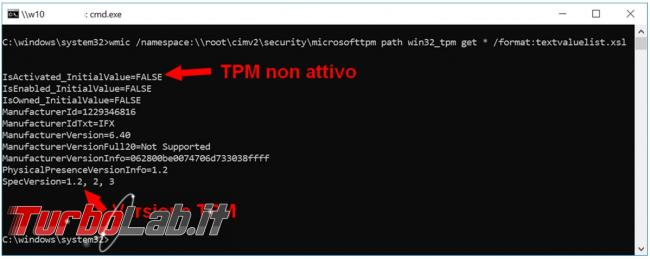 Come verificare remoto computer l'attivazione versione TPM