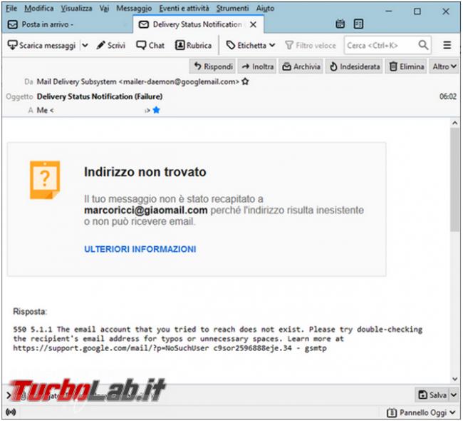 Come verificare se indirizzo email esiste senza spedirgli messaggio