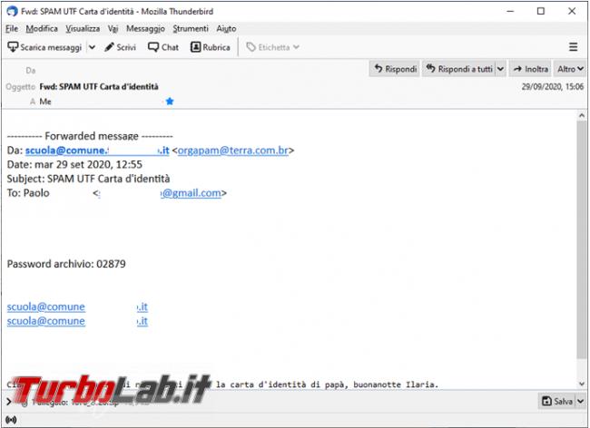 Come verificare se mail, dominio, è coinvolta virus Emotet