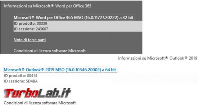 Come verificare se Microsoft Office è 32 bit 64 bit
