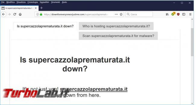 Come verificare se sito internet è irraggiungibile (down) solo noi tutti quanti