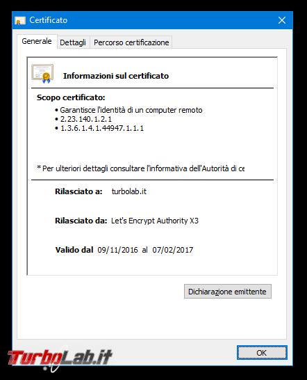 Come visualizzare certificato digitale SSL/TLS (HTTPS) sito Google Chrome nuova versione