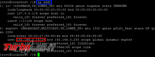 Come visualizzare indirizzo IP Linux CentOS (-bash: ifconfig: command not found)
