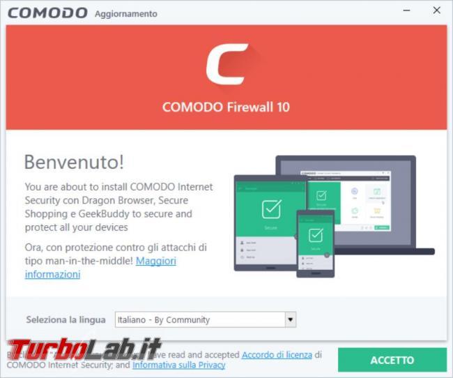 Comodo Firewall 10 messo prova TurboLab.it