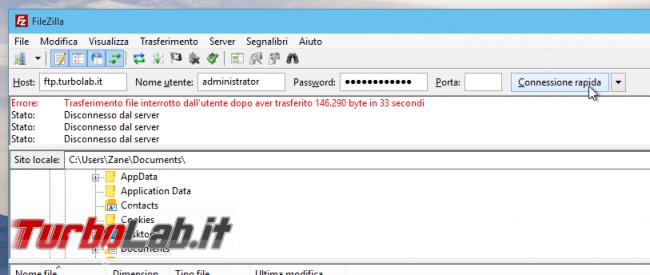 Configurare server FTP Linux CentOS/Ubuntu: Guida rapida Pure-FTPd - guida filezilla (13)