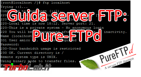 Configurare server FTP Linux CentOS/Ubuntu: Guida rapida Pure-FTPd - pure-ftpd spotlight