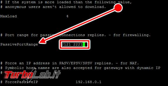 Configurare server FTP Linux CentOS/Ubuntu: Guida rapida Pure-FTPd - pure-ftpd.conf 03