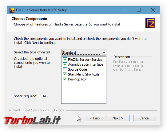 Configurare server FTP Windows: Grande Guida FileZilla Server - FileZilla Server Setup 02