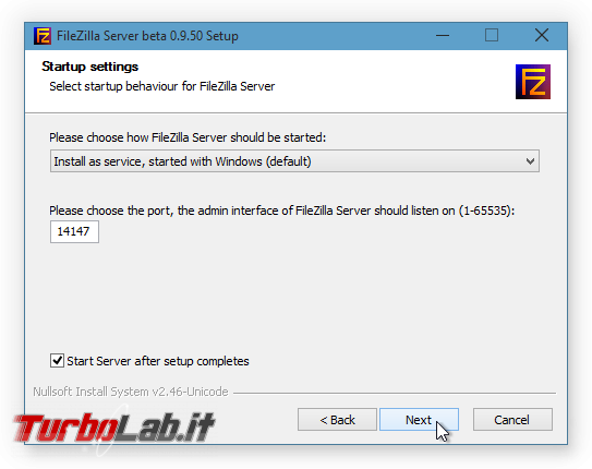 Configurare server FTP Windows: Grande Guida FileZilla Server - FileZilla Server Setup 03