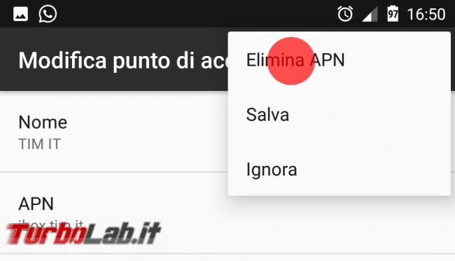 Configurazione Internet TIM 4G Android: wap.tim.it, unico.tim.it oppure ibox.tim.it? - Screenshot_20170204-165028