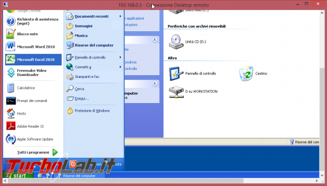 Connettersi Desktop Remoto (Remote Desktop) PC lontano: guida client Windows
