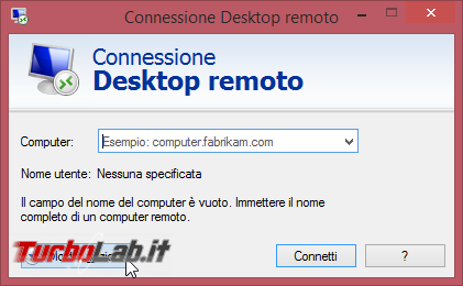Connettersi Desktop Remoto (Remote Desktop) PC lontano: guida client Windows - remote_desktop_client_01