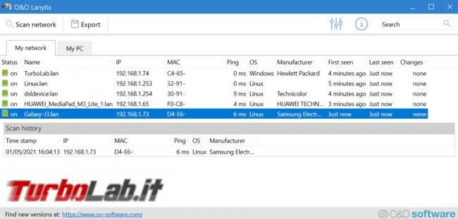 Conoscere indirizzi IP MAC Address dispositivi connessi rete